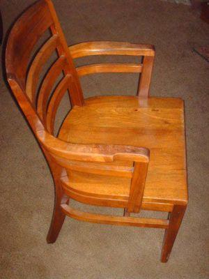Wh Gunlocke Chair The Gym Vintage Solid Wood W H Co Wayland New York 1921