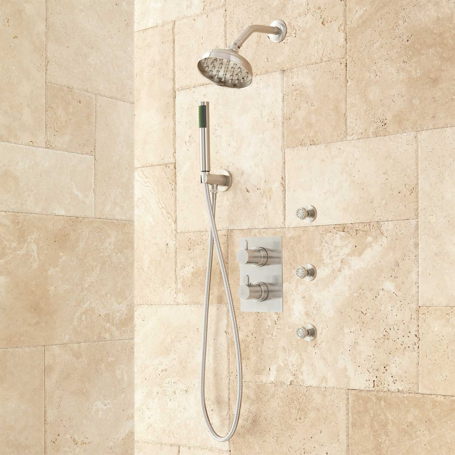 Hinson Shower System with Hand Shower and Body Sprays | Shower ...