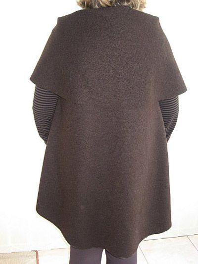 Patron manteau femme laine bouillie