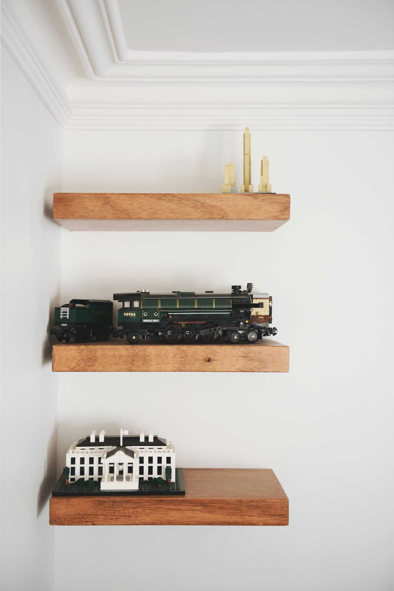 Built-in shelves.