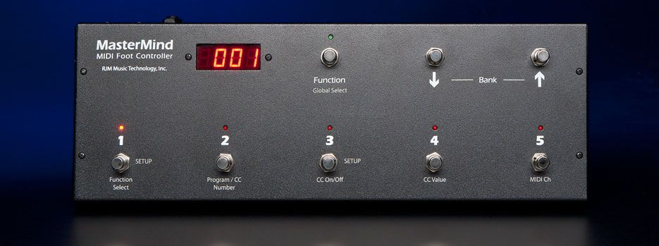 RJM Music Technology MasterMind MIDI Foot Controller | Music