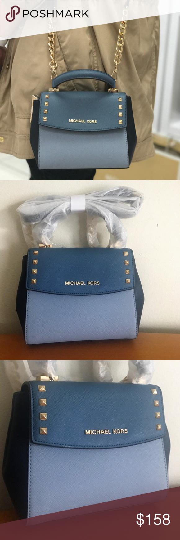 dabd6e5e3d65 Michael Kors Karla Mini Convertible Bag ~ Blues This Karla Mini Bag is a  fabulous colorblock