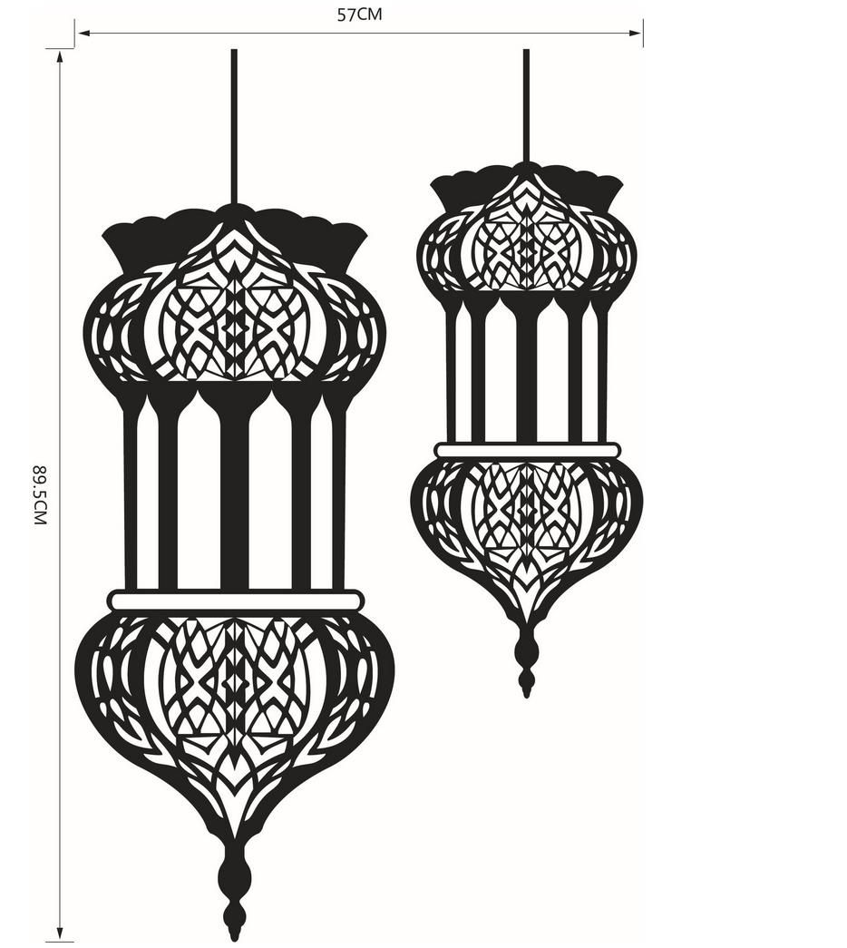 halloween islamic lantern wall stickers muslim pattern art on wall stickers painting id=84825