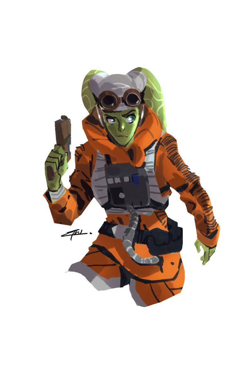 Star Wars Rebels Hera Syndulla In X Wing Pilot Gear Unartifex Star Wars Rpg Star Wars Drawings Star Wars Bb8
