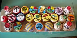 more Dr. Seuss cupcakes