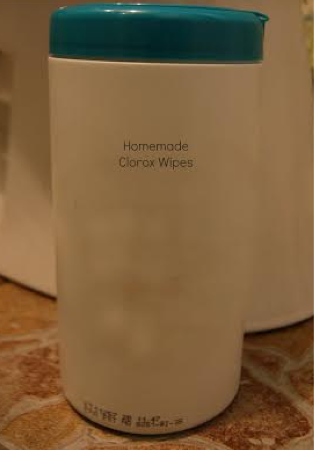 Homemade Clorox Wipes #cleaning #wipes #antibacterial