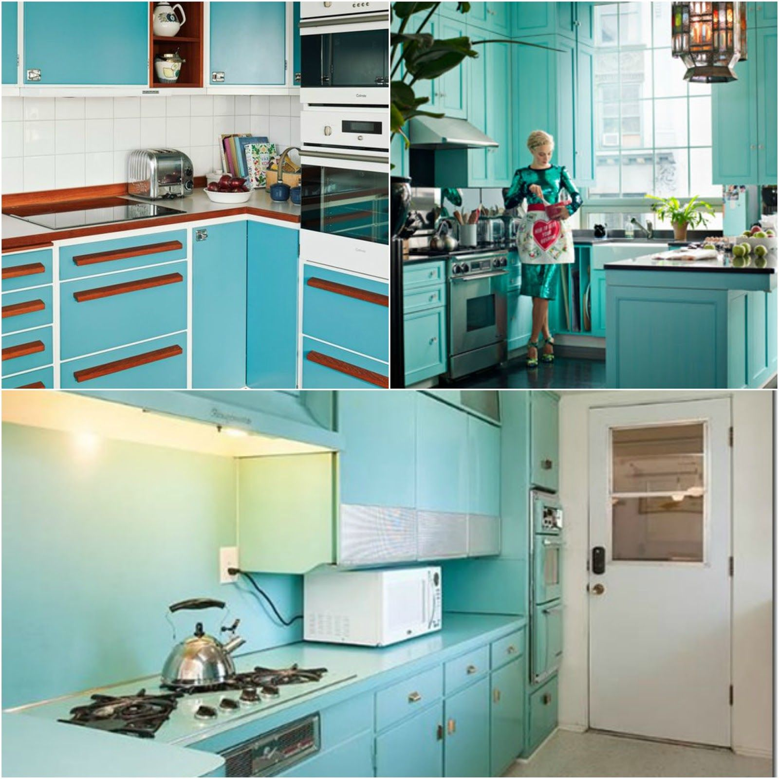 Tasty Turquoise Kitchens | Ideas for the house | Pinterest ...
