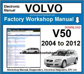 Volvo V50 Workshop Manual Wiring Diagrams