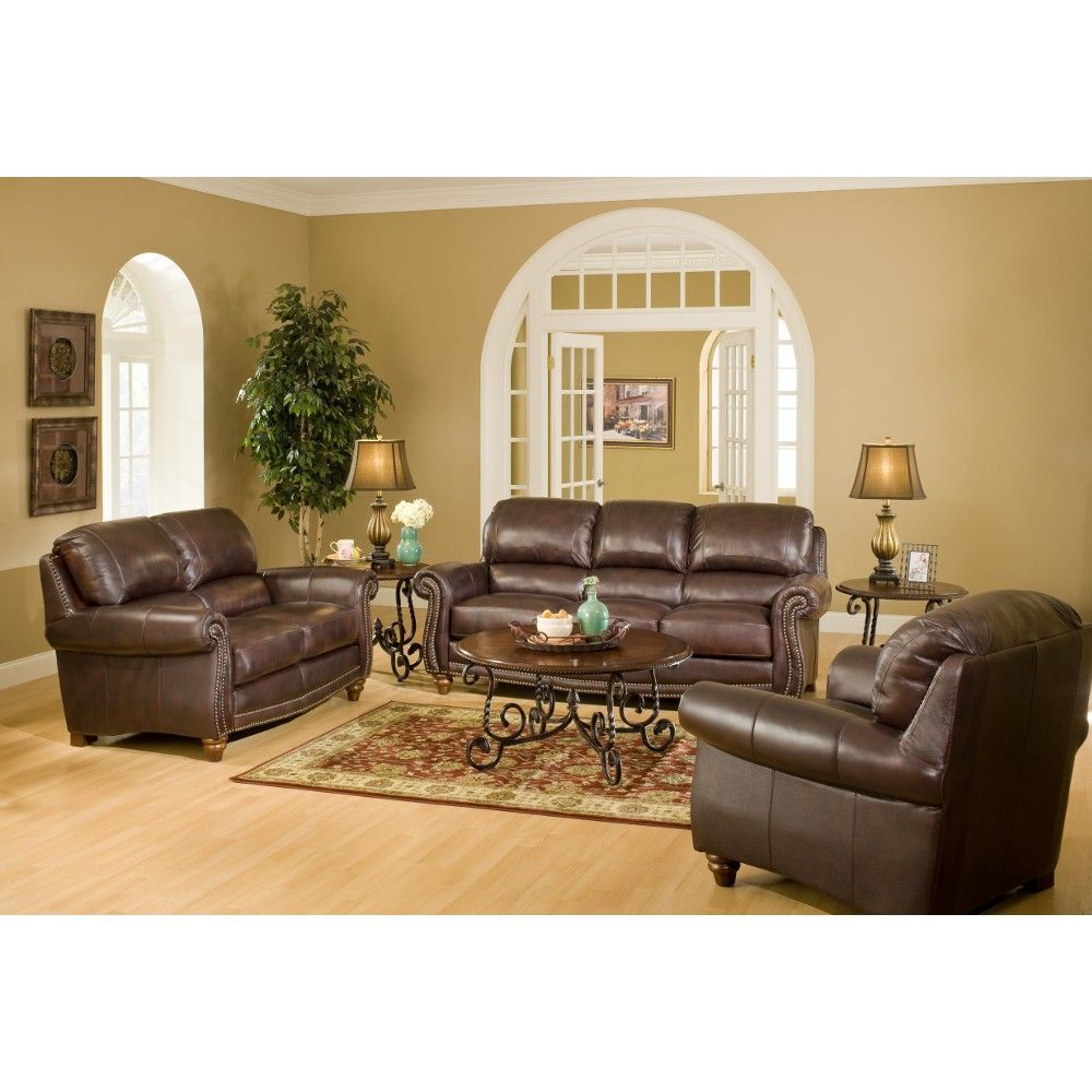 Living Room Sets At Conns leather italia jameson loveseat | 100% leather (s9922022952