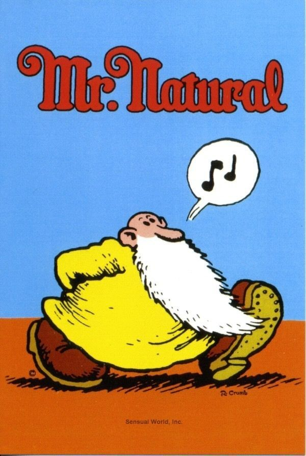 Cartoon Comic Book Artist R Crumb Mr Natural Art Postcard Old Man Whistling Comic Book Artists Cartoons Comics Art