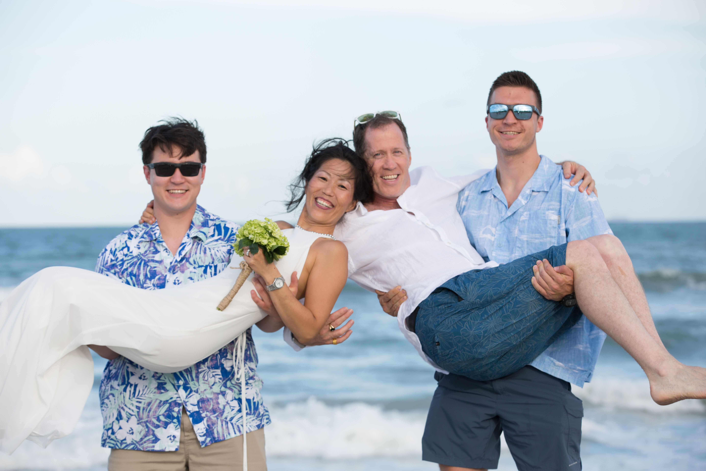 Cocoa Beach, FL Beach wedding photography, Wedding