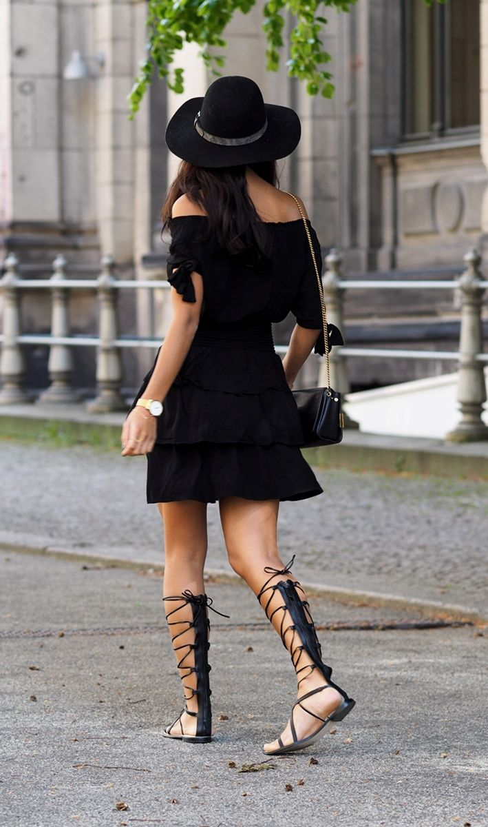 ca9bfdd647 ... Black Summer Style How To Style. 25 Outfit Ideas and Tips of How to Wear  Gladiator Sandals