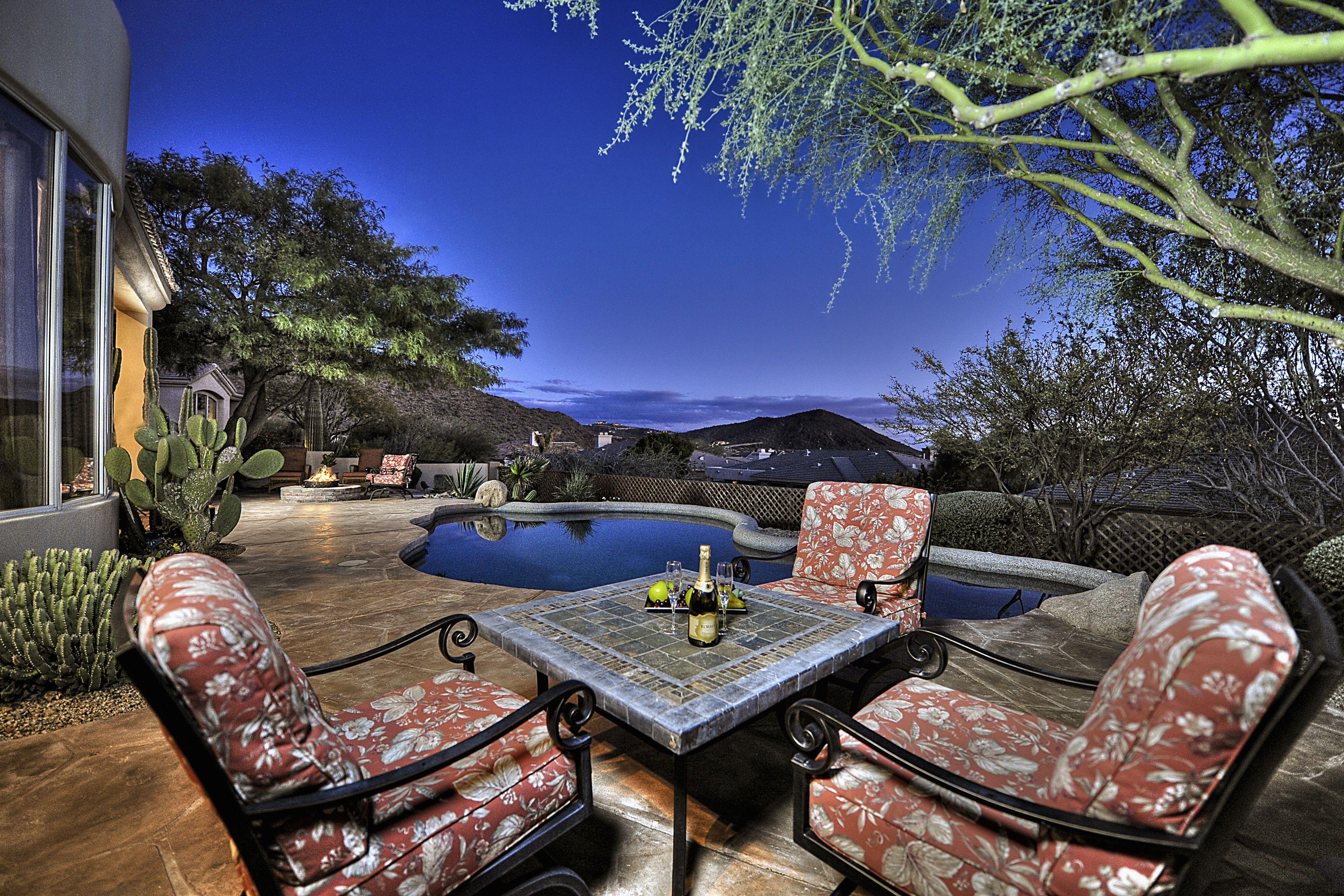 Outdoor Patio Perfect For Dining Al Fresco Scottsdale Arizona