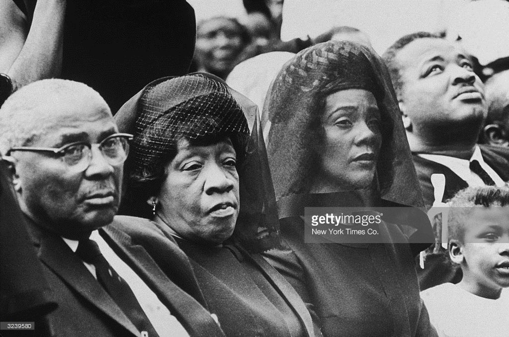 The parents and the widow of assassinated civil rights leader Dr. Martin Luther King Jr