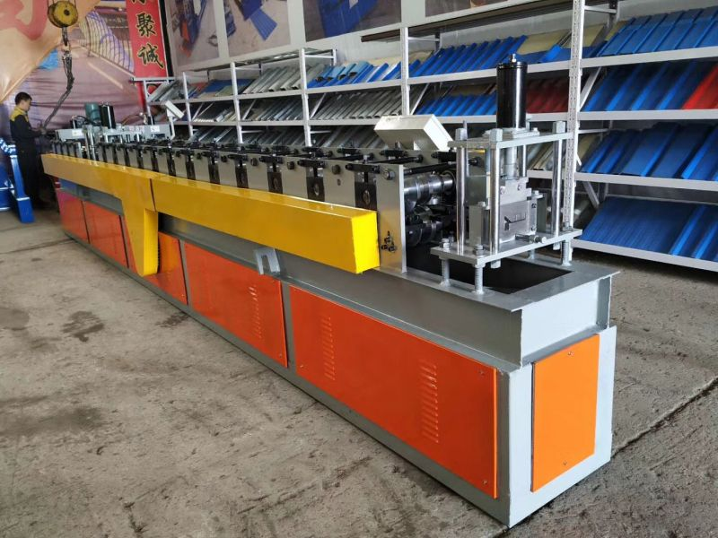 Special Designed Steel Door Frame Cold Roll Forming Equipment Manual Decoiler Guiding Device Main Machine Of Roll Forming Steel Doors Roll Forming Door Frame