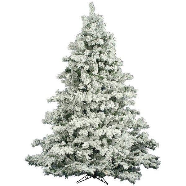 Flocked Alaskan 65\u0027 White Pine Artificial Christmas Tree ($226