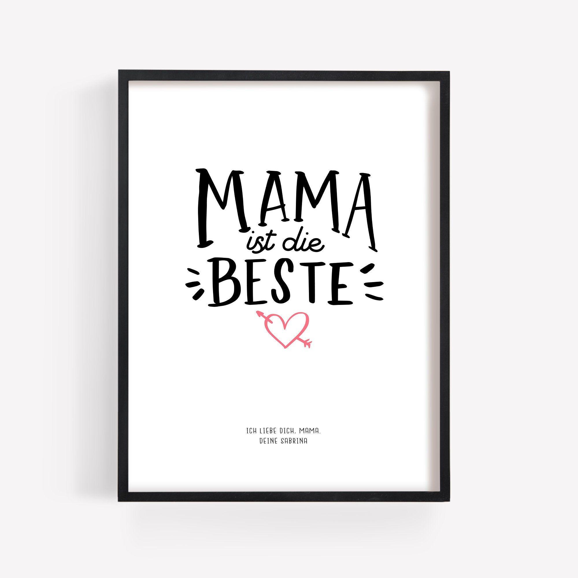 Poster Mama Ist Die Beste Mutter Muttertagsgeschenk Geburtstag Muttertag Geschenk Bild Personalisiert Name Mama Individuell Spruch In 2020 Calm Artwork Artwork Poster