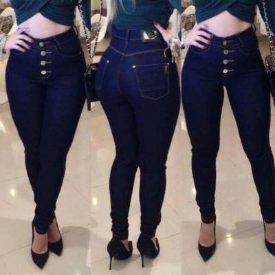 a5041d225 calça jeans cintura alta escura | Cosas para ponerse | High Waist ...
