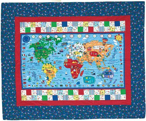 quilt blocks kids - Google Search Quilt Pinterest Kids s - best of world map fabric bunting