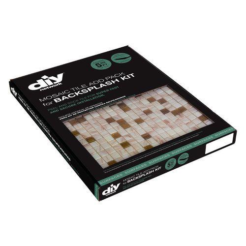 Kitchen Backsplash Kit: Peel-and-stick Glass Wall Tile Backsplash Kit