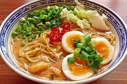 Pikante Thai Suppe mit Kokos und Hühnchen von mila_d | Chefkoch