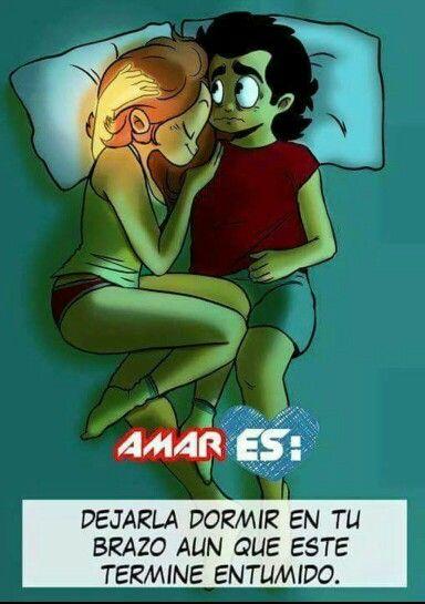 No hay nada mejor que dormir abrazado a ti...bb