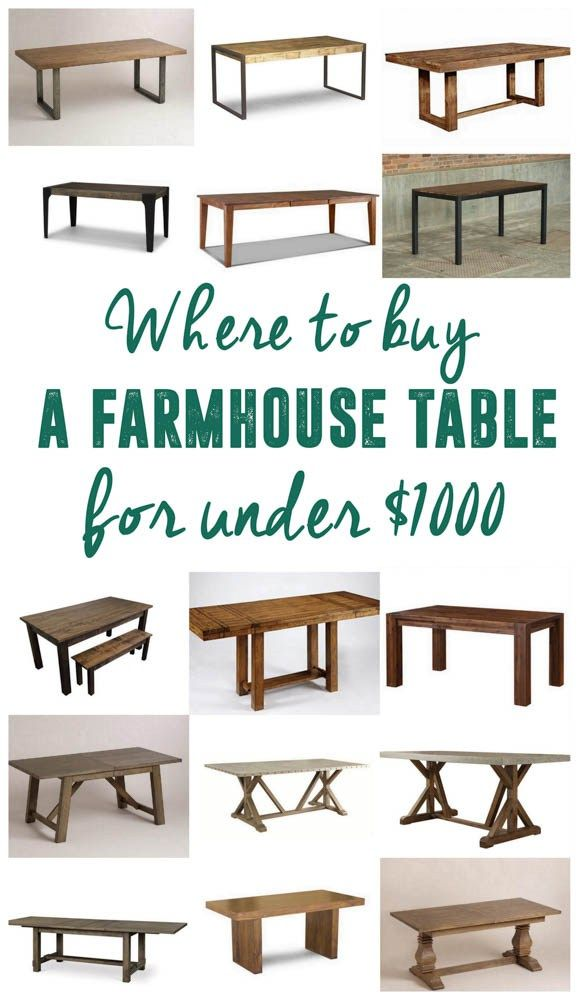 Where To Buy An Affordable Farmhouse Table Farmhouse Table - Affordable farm table