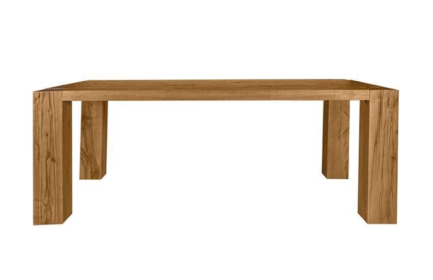 Tisch Kollam 280 x 110 cm - Balkeneiche massiv - geölt - natur