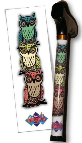 Stylish Walking Canes for Men and Women - Hooty Owl Folding Walking Cane