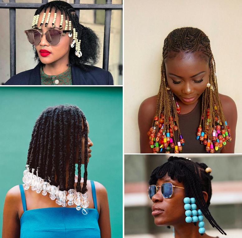 17 Stunning Modern Interpretations Of The Old School Bead Style Box Braids Hairstyles For Black Women Box Braids Hairstyles Black Haircut Styles