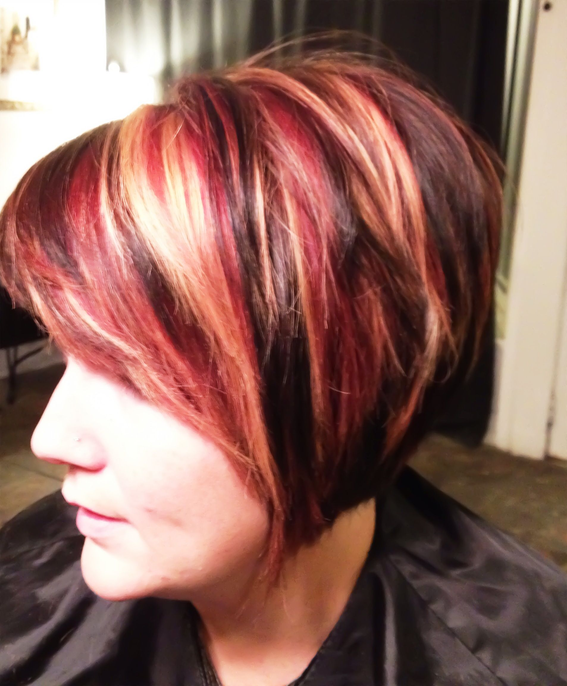 Fall hair color red blonde and dark brown beauty pinterest