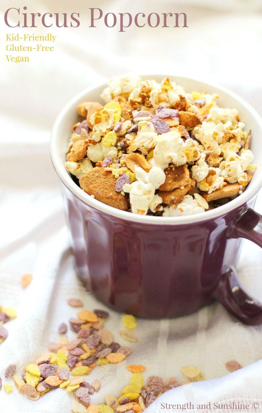Circus Popcorn Recipe Snacks, Food recipes, Vegan snacks