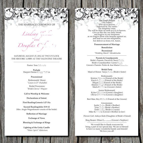 Simple+Elegant+Wedding+Ceremony+Program+by+ayleighdesigns+on+Etsy ...