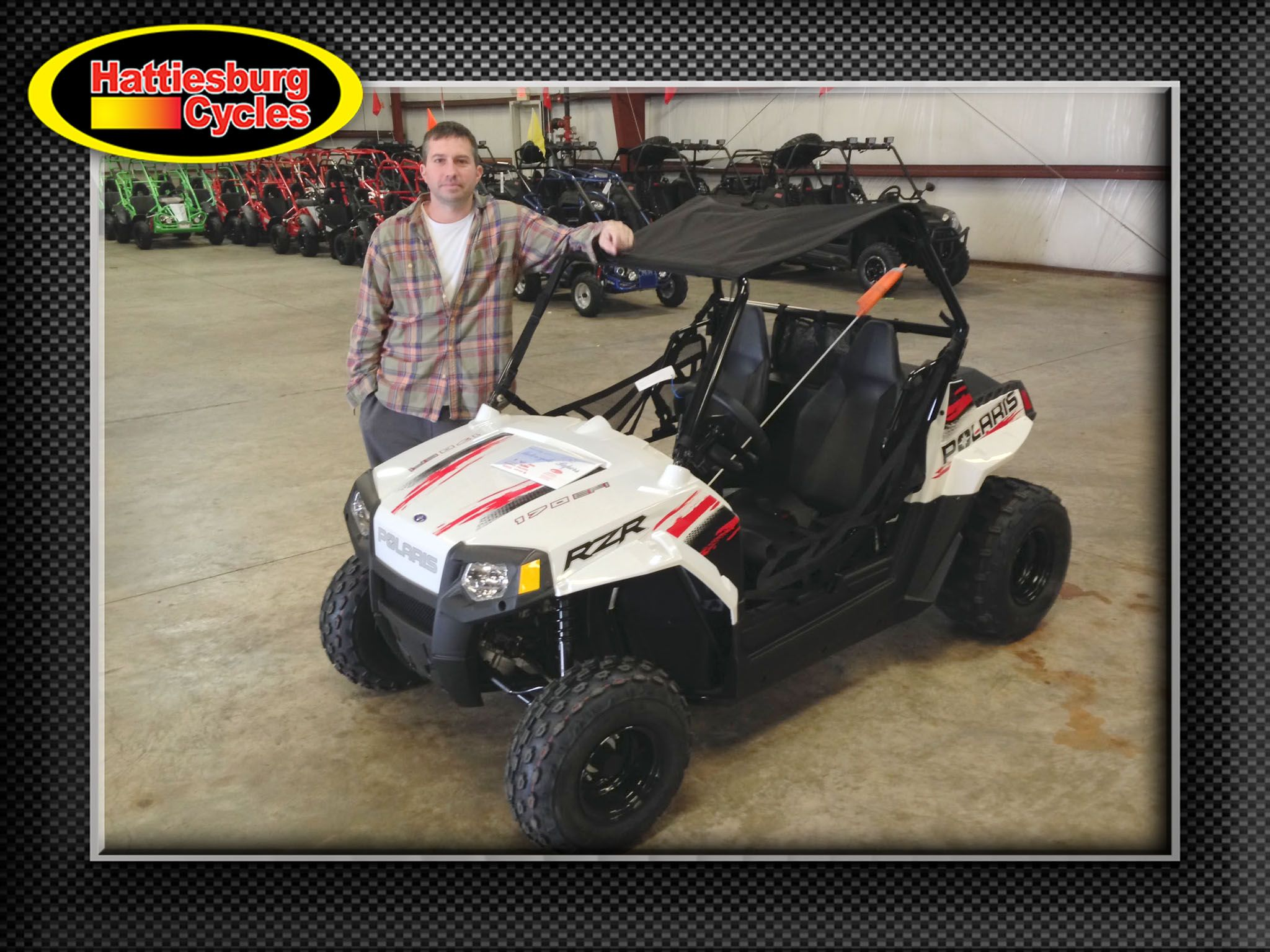Thanks to Troy Hebert and Judy Loflin from Lumberton MS for getting a 2017 Polaris RZR 170. @HattiesburgCycles