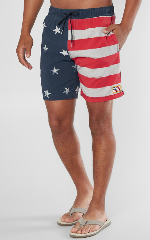 16d9818b13 Red, white and blue boardshorts | Buckle | Americana in 2019 | Mens ...
