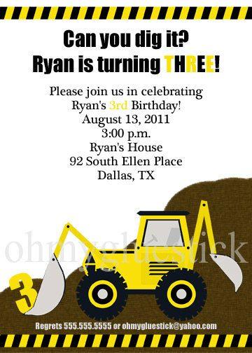 Nephew Boy Son Personalised Construction Birthday Card Dumptruck Bulldozer