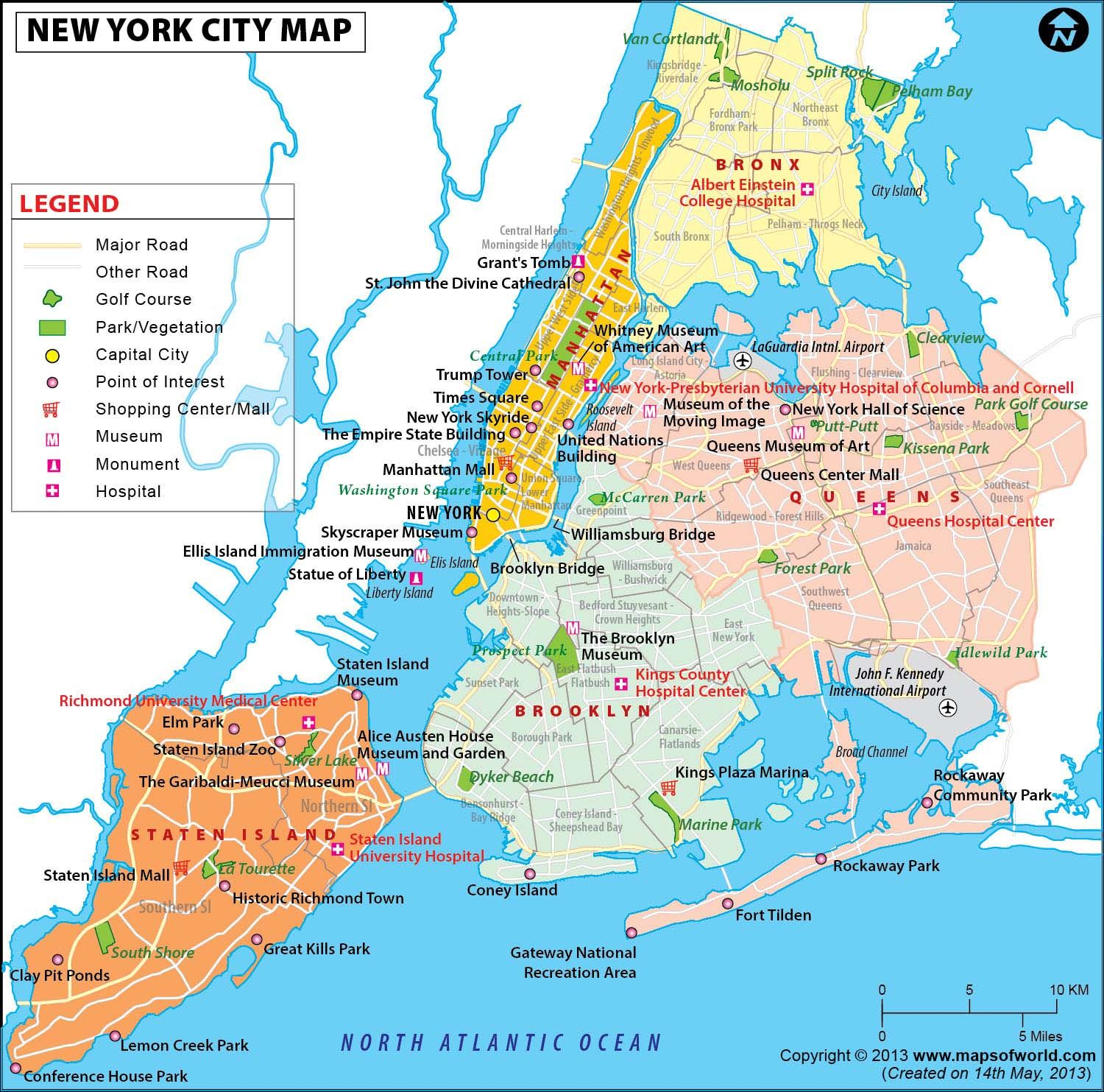 nyc map map of new york city