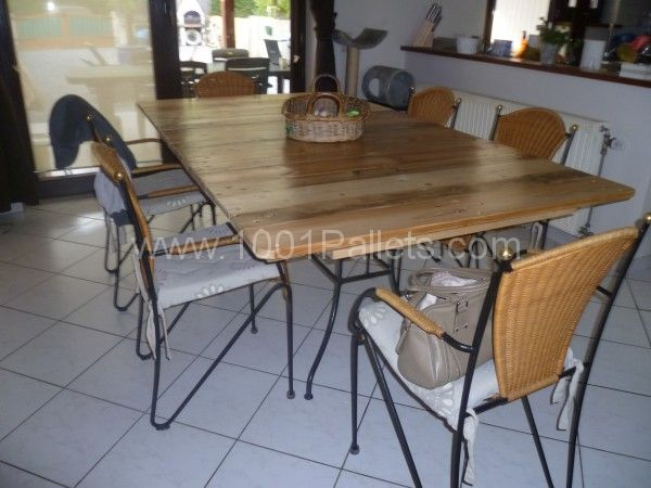 My new dining room table / Ma nouvelle table de salle a manger