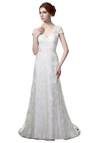 Helen Fontaine Vintage Lace Wedding Dress With Cap Sleeves US14 ...