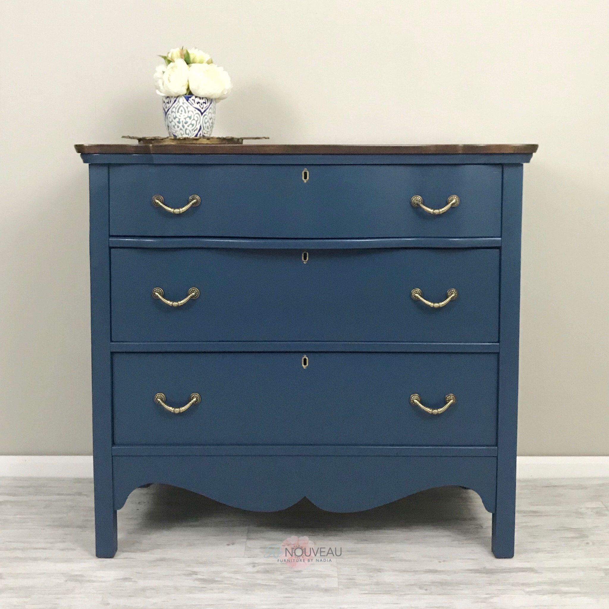Sold Vintage Dresser Antique Furniture Chest Of Drawers Dark Blue Dresser Painted Furniture Home Decor Bedroom Decor C Blue Furniture Vintage Dressers Blue Chest Of Drawers [ 2047 x 2048 Pixel ]