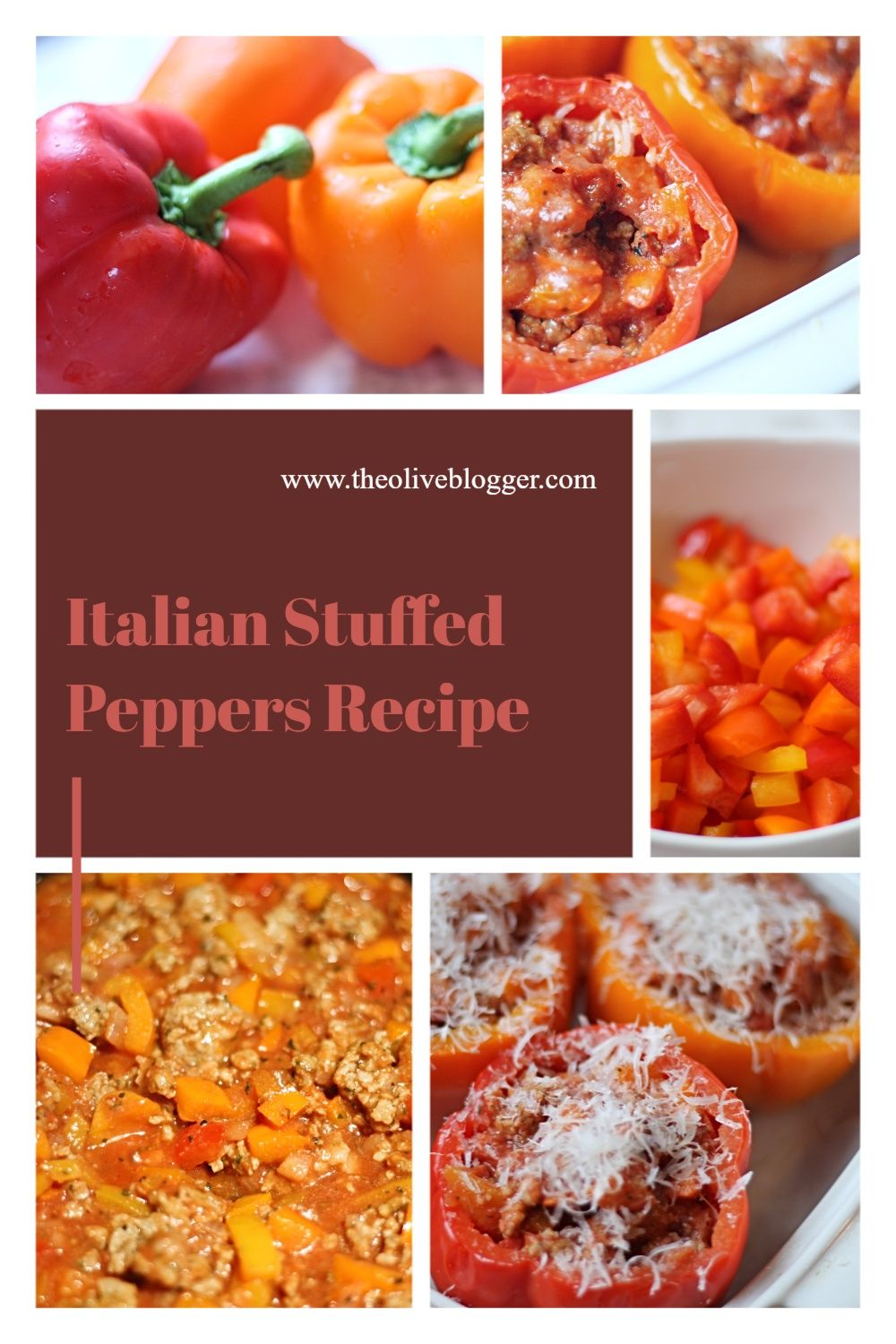 Italian Stuffed Peppers Recipe The Olive Blogger Recipe In 2020 Comfort Food Recipes Dinners Stuffed Peppers Italian Stuffed Peppers