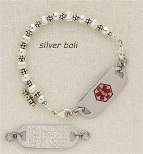Medical Bracelets For Women Sterling