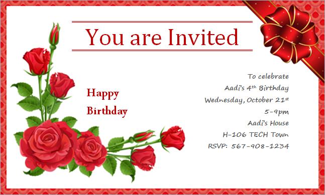 Invitation Birthday Card Inspirational Invitation Birthday