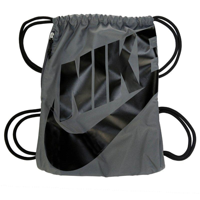 d957c50a85c2f Nike Heritage Drawstring Backpack Accessories (Dark Grey Black)