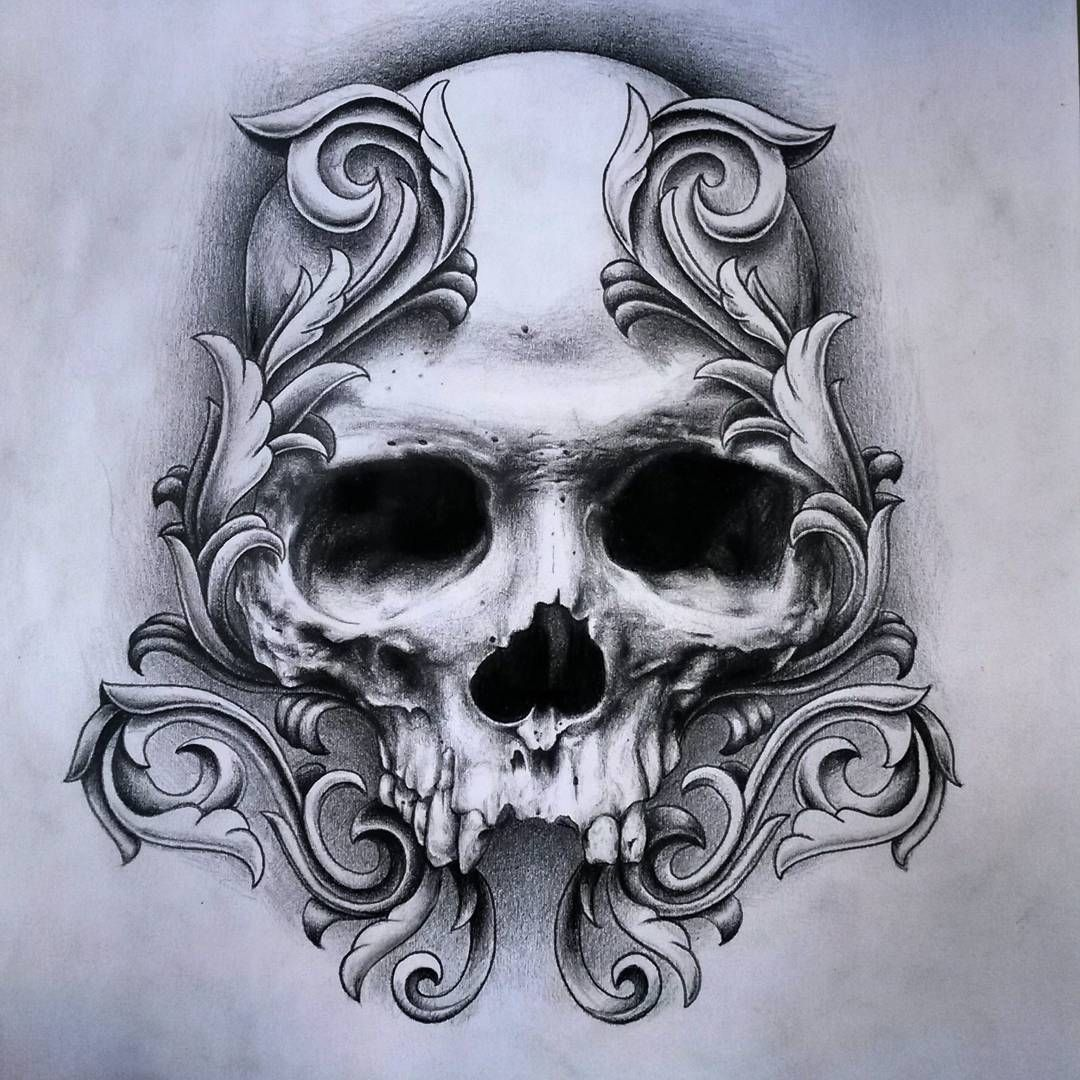 Skull … | Skull tattoos, Skull drawing, Skull art