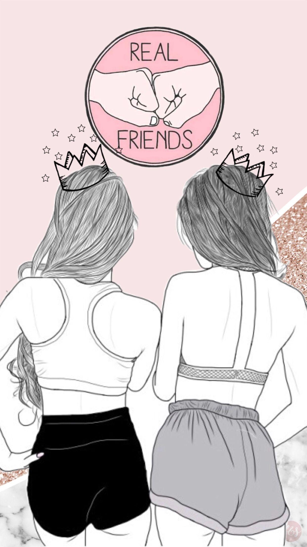 Besties Desenhos De Amizade Desenhos De Melhor Amigo Desenho De Menina