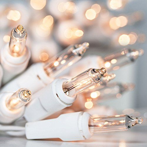white christmas lights clear white bulb white wire steady christmas lights 100 bulbs 40