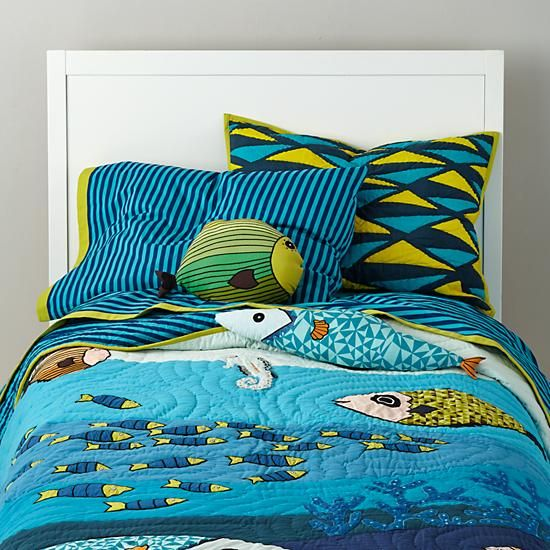 The Land Of Nod Kids Bedding Ocean Life Bedding Set In Boy