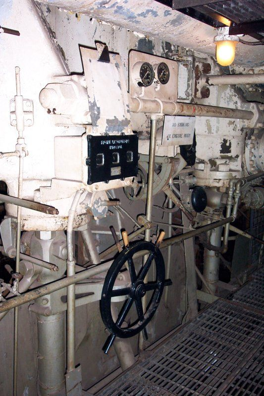 Battleship Engine Room: Starboard Engine Room Main Control Station. (most Of The
