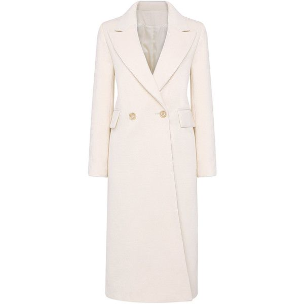Yoins Lapel Collar Duster Coat with Double Breasted ($89) ❤ liked on Polyvore featuring outerwear, coats, jackets, yoins, beige, double-breasted coat, lapel coat, pink coat, pink duster coat and duster coat